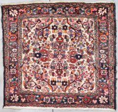 square antique hamadan rug image